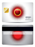 Red and gray credit card Royalty Free Stock Image