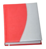 Red-gray datebook. Gray-red datebook isolated on the white background Royalty Free Stock Photography