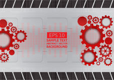 Red and gray gear abstract vector background with copy space Royalty Free Stock Image