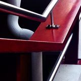 Red and gray handrail Royalty Free Stock Image