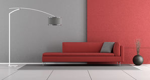 Red and gray modern lounge Stock Photos