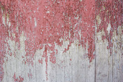 Red gray paint mottled wooden doors Stock Images