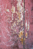 Red gray paint mottled wooden doors Royalty Free Stock Images
