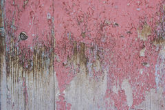 Red gray paint mottled wooden doors Stock Photography