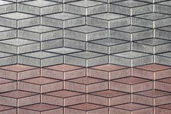 Red gray paving slab in perspective background royalty free stock photos