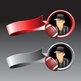 Red and gray ribons football referee royalty free illustration