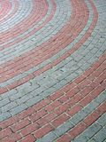 Red, gray stone brick road diversity, Royalty Free Stock Images