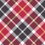 Red and gray tartan diagonal plaid seamless pattern Stock Images