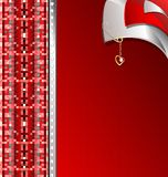 red-gray variation with a golden pin Stock Photo