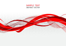 Red and gray wave abstract vector Stock Photos