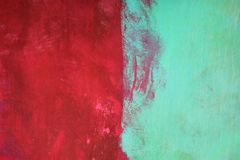 Red and Green. Textured plaster painted red and green royalty free stock photography