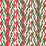 Red and Green Abstract Geometric Christmas Pattern. Abstract Seamless Geometric Christmas Pattern in Retro Style. Red and Green Royalty Free Stock Photography