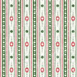 Red and Green Abstract Geometric Christmas Pattern. Abstract Seamless Geometric Christmas Pattern in Retro Style. Red and Green Royalty Free Stock Image
