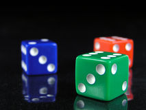 Free Red, Green, And Blue Dice 2 Stock Images - 321974