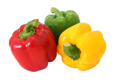 Red Green And Yellow Sweet Bell Pepper Stock Images