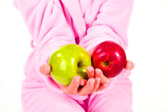 A red and a green apple Royalty Free Stock Photography