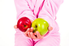 A red and a green apple Royalty Free Stock Images