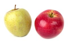 Red and green apple Stock Photo