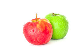 Red and green apple. A red and green apple Royalty Free Stock Photo