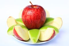 Red & Green Apple Stock Photo