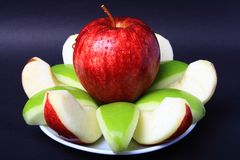 Red & Green Apple Royalty Free Stock Photos