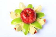 Red & Green Apple Royalty Free Stock Photo