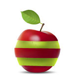 Red-Green Apple Royalty Free Stock Photography