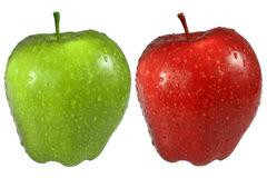 Red and green an apple Royalty Free Stock Image