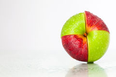 Red-green apple Royalty Free Stock Photos