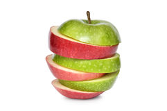 Red and green apple Royalty Free Stock Photos