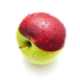 Red green apple Stock Photos