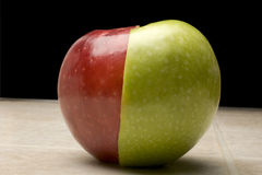 Red_Green_apple Stock Image
