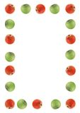 Red and green apple border Stock Photo