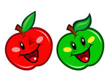 Red and Green Apple Character Stock Photos