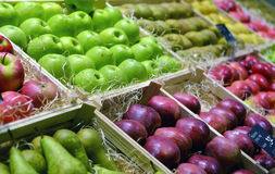 Red and green apple fruits Royalty Free Stock Images