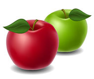 Red and green apple Stock Photos