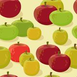 Red and green apple seamless pattern. Vector illustration. Red and green apple seamless pattern. Vector illustration of cute cartoon apples on light background royalty free illustration