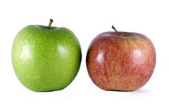 Red and green apples. Isolated on white background Stock Photo