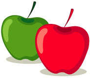Red and green apples stock illustration