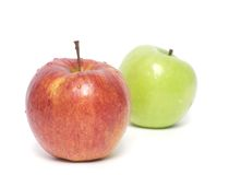 Red and green apples. On white Royalty Free Stock Photography