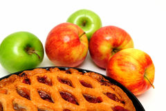 Red And Green Apples And  Pie Stock Images