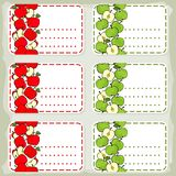 Red and green apples sticker Royalty Free Stock Images
