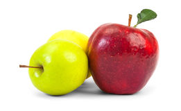 Red and green apples royalty free stock photography