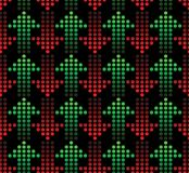 Red and green arrows. Seamless wallpaper - red and green arrows Stock Images