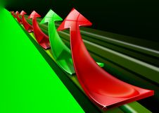 Red and green arrows background Stock Photography