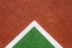 Red Green Astro Corner Turf Royalty Free Stock Image