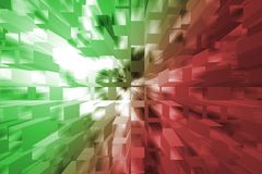 Red and green background. Abstract-Explosion simulation-Blocks stock illustration