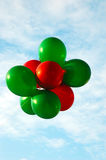 Red and Green Balloons Stock Image