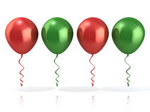 Red and green balloons Royalty Free Stock Photo