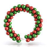 Red and green balloons wreath. Isolated on white Stock Photo